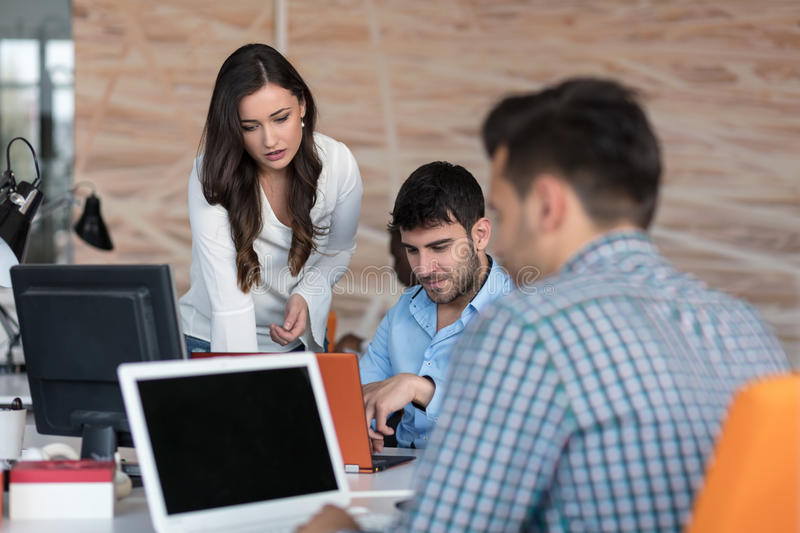 Startup Diversity Teamwork Brainstorming Meeting Concept. stock images