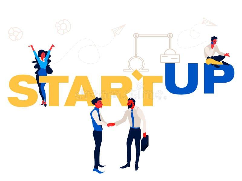 Startup - flat design style colorful illustration on white background. royalty free illustration