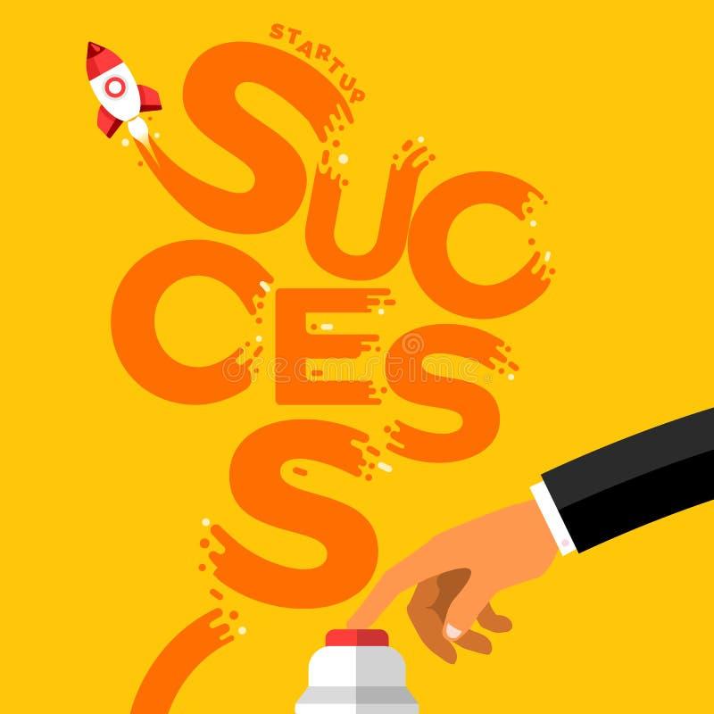 startup framgång royaltyfri illustrationer