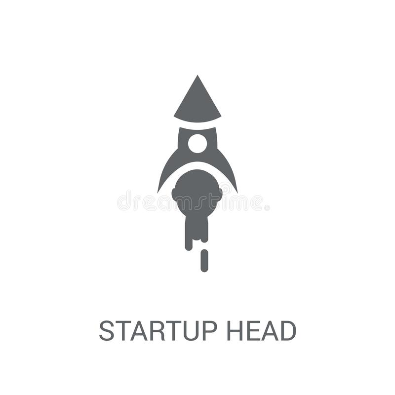 startup Head icon. Trendy startup Head logo concept on white background from Startup Strategy and Success collection royalty free illustration