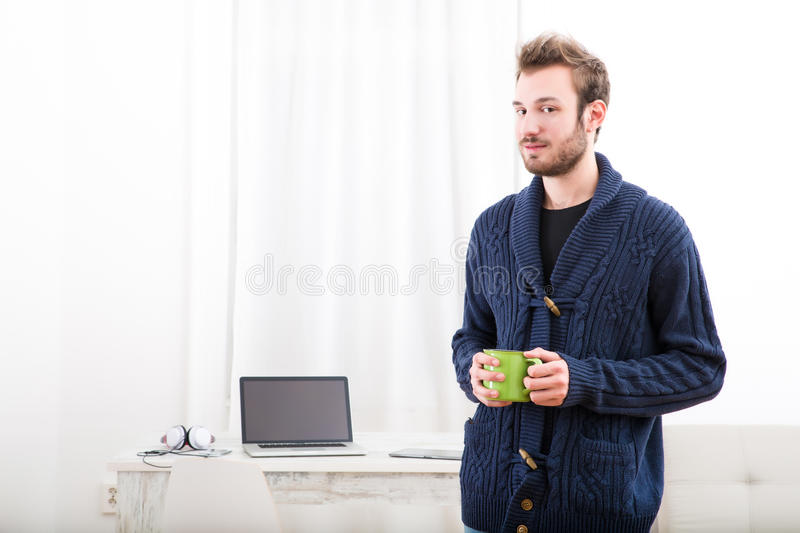 Startup at home stock image