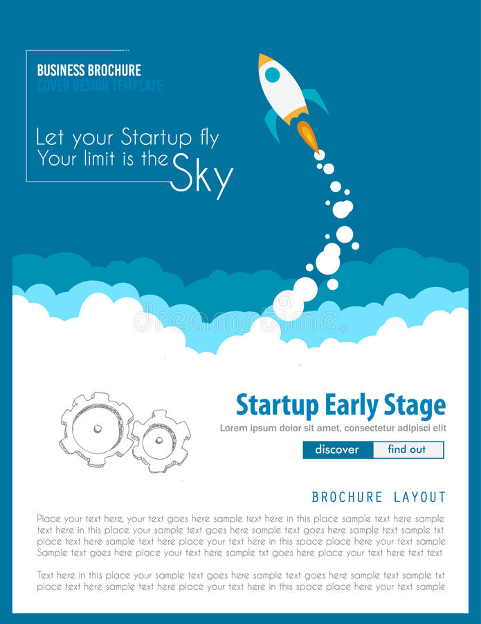 Startup Landing Webpage or Corporate Design Covers stock illustration