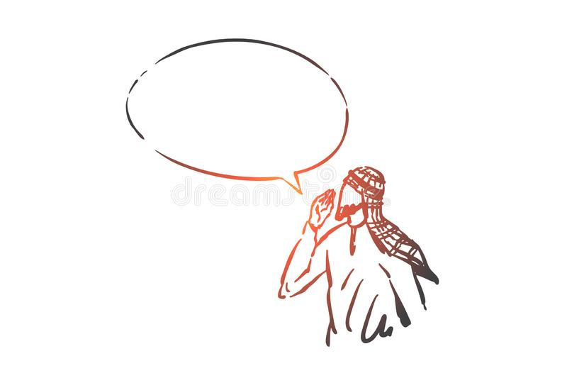 Startup, leadership, idea concept sketch. Hand drawn isolated vector illustration vector illustration