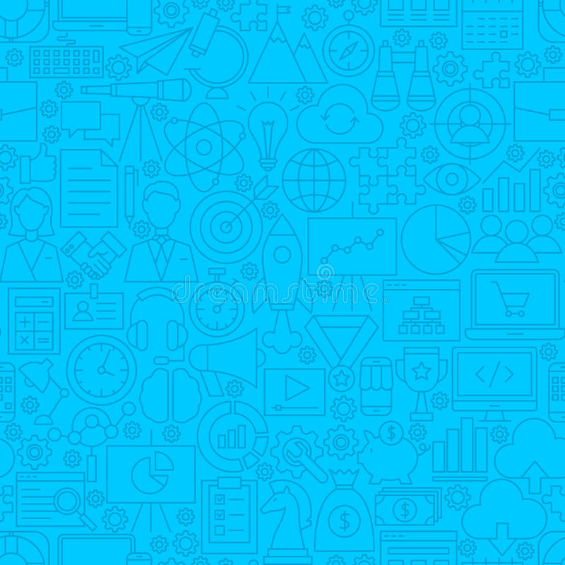 Startup Line Tile Pattern. Vector Illustration of Outline Background vector illustration