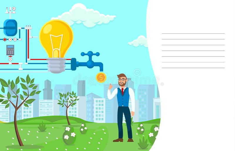 Startup Monetization Process Vector Illustration royalty free illustration