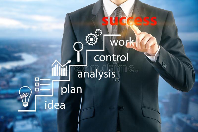 Startup and plan concept stock image