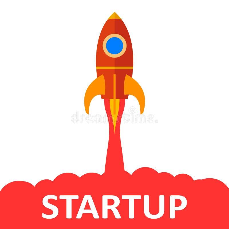 Startup, rocket concept - vector royalty free illustration