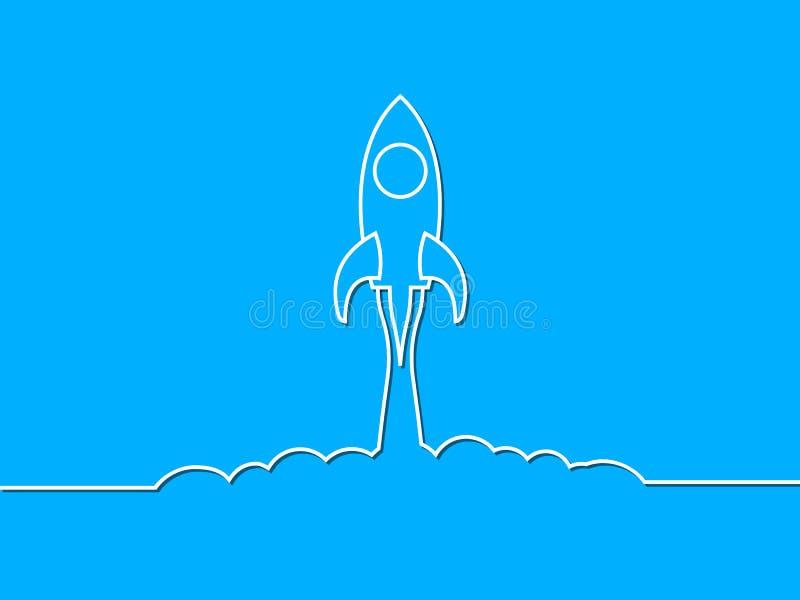 Startup, rocket concept - stock vector royalty free illustration