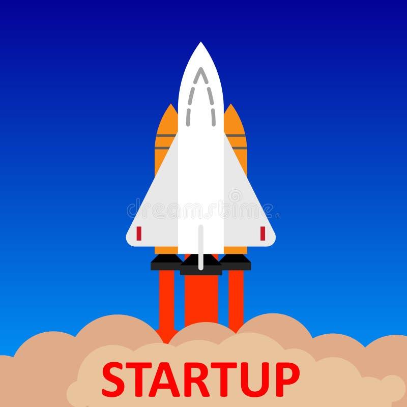Startup Rocket concept - for stock vector illustration
