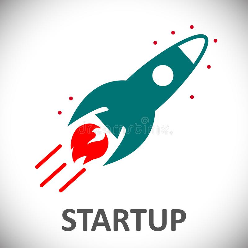 Startup, rocket concept - for stock stock illustration