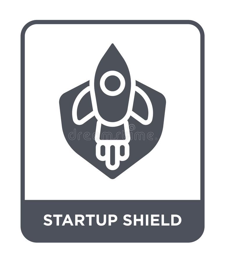 startup shield icon in trendy design style. startup shield icon isolated on white background. startup shield vector icon simple stock illustration