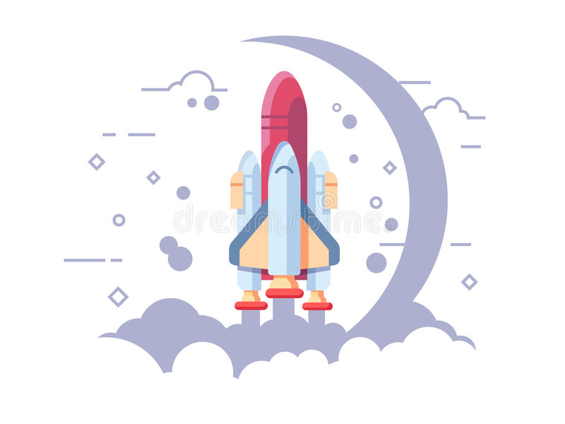 Startup space rocket royalty free illustration