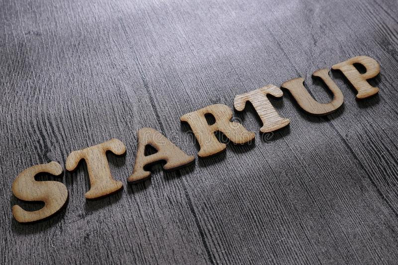 Startup Start Up, Motivational Words Quotes Concept stock image
