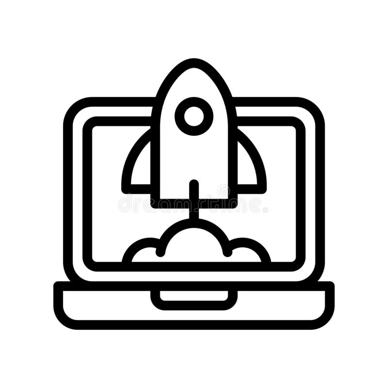 Startup vector, Digital marketing line icon editable stroke. Startup vector, Digital marketing line style icon editable stroke vector illustration