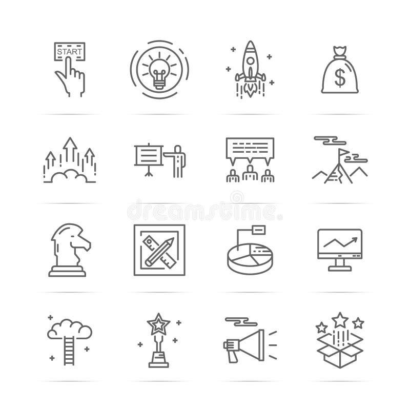 Startup vetor line icons. Startup line icons, minimal pictogram design, stroke for any resolution vector illustration