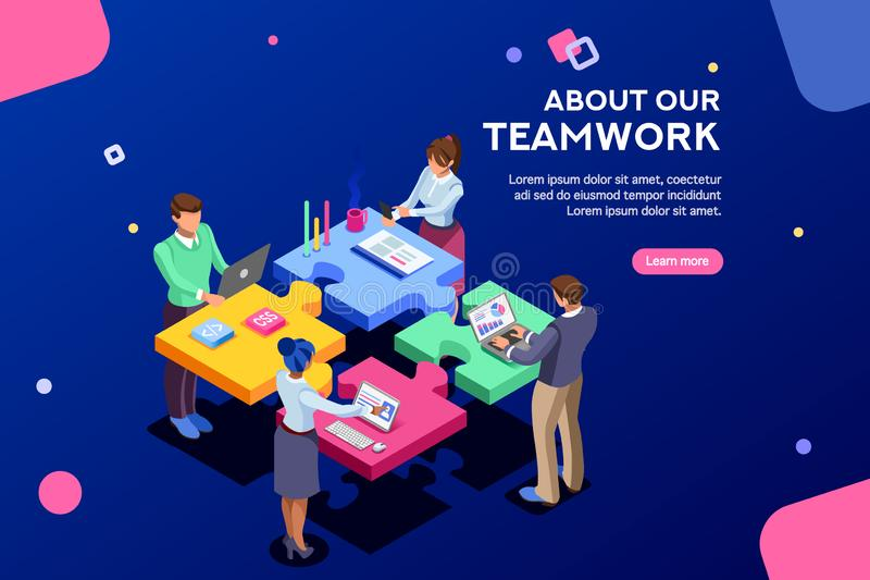 Startup Web Page Template Banner stock illustration