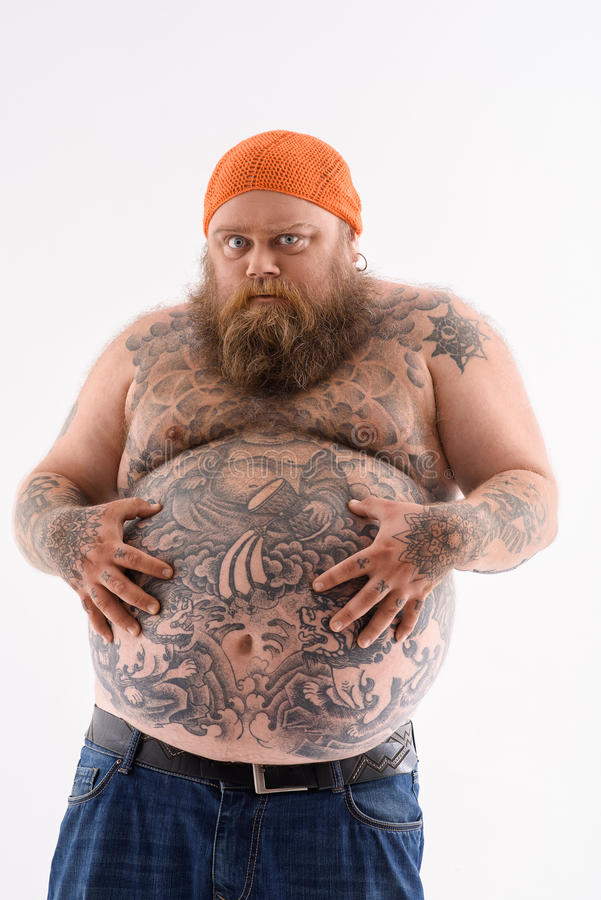 naked guy with tattoos