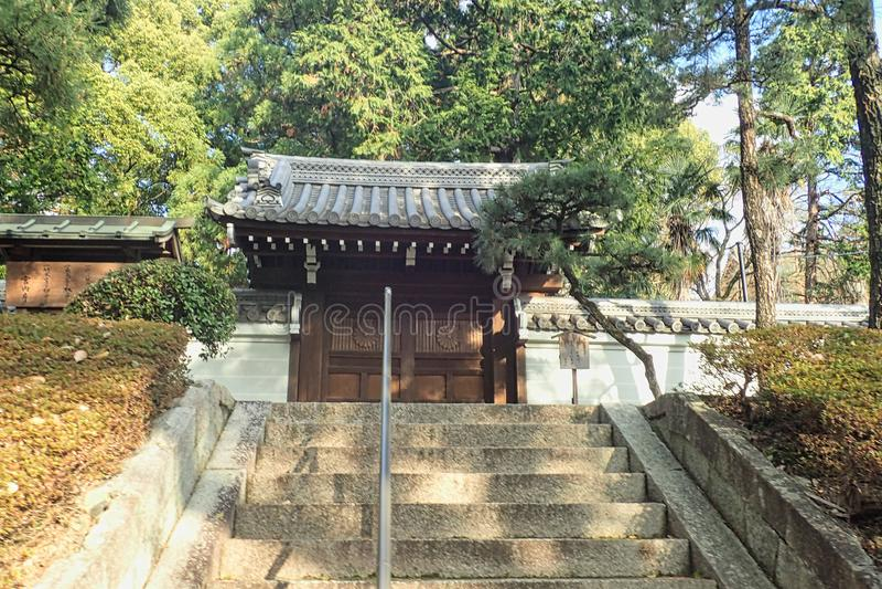 starway aan een Japans park stock foto's