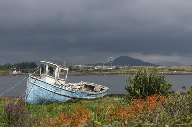stary łódkowaty target28_1_ Ireland obrazy stock