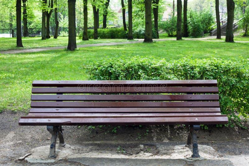 stary ławka park fotografia royalty free