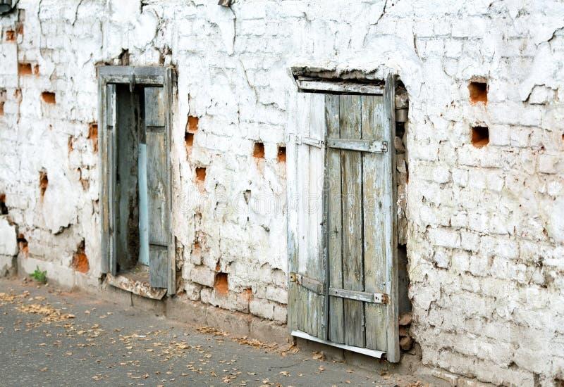 Stary ściana z cegieł i okno zdjęcie stock