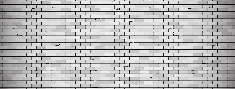 Stary ściany z cegieł tło z winietą w popielatych kolorach wektorowa ?ciany z cegie? tekstura ilustracji