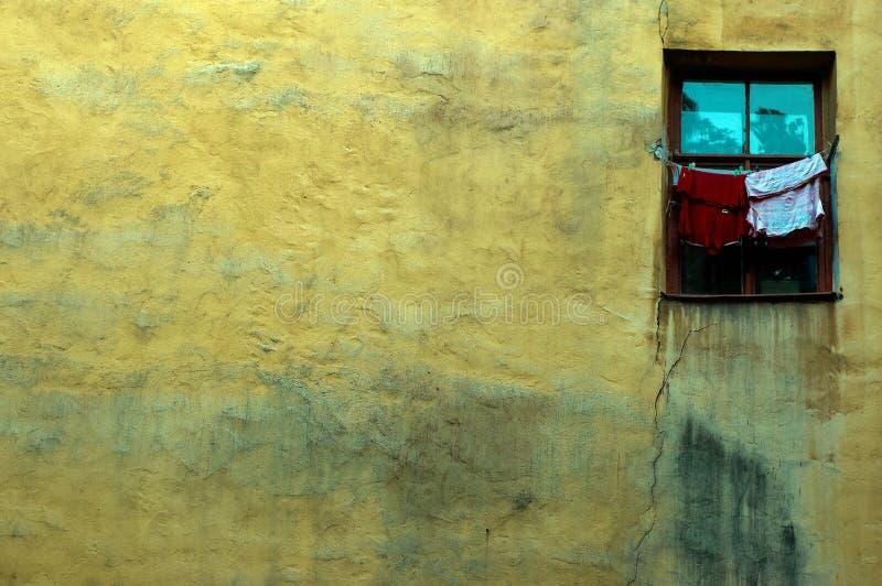 stary ścienny okno obrazy stock
