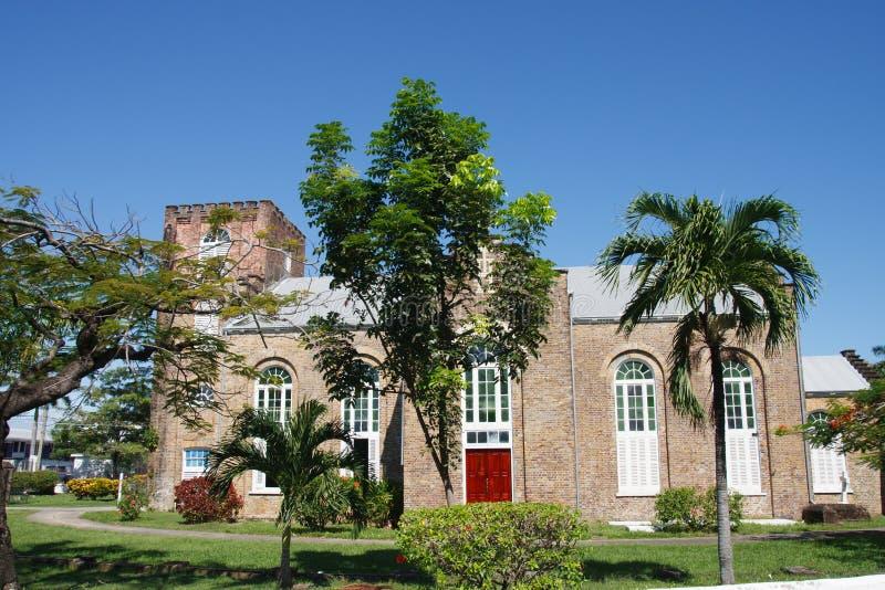 Stary kościół anglikański w Belize fotografia stock