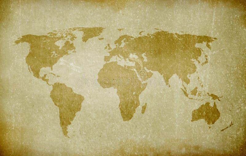Stary świat mapa ilustracji