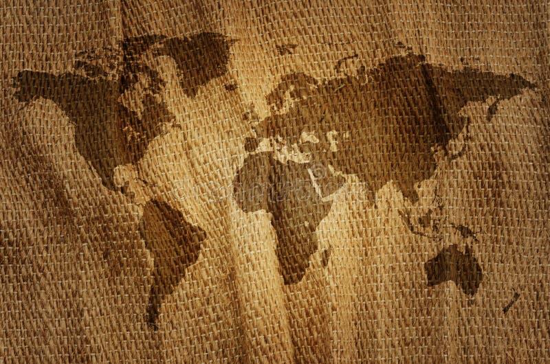 Stary świat mapa. fotografia stock