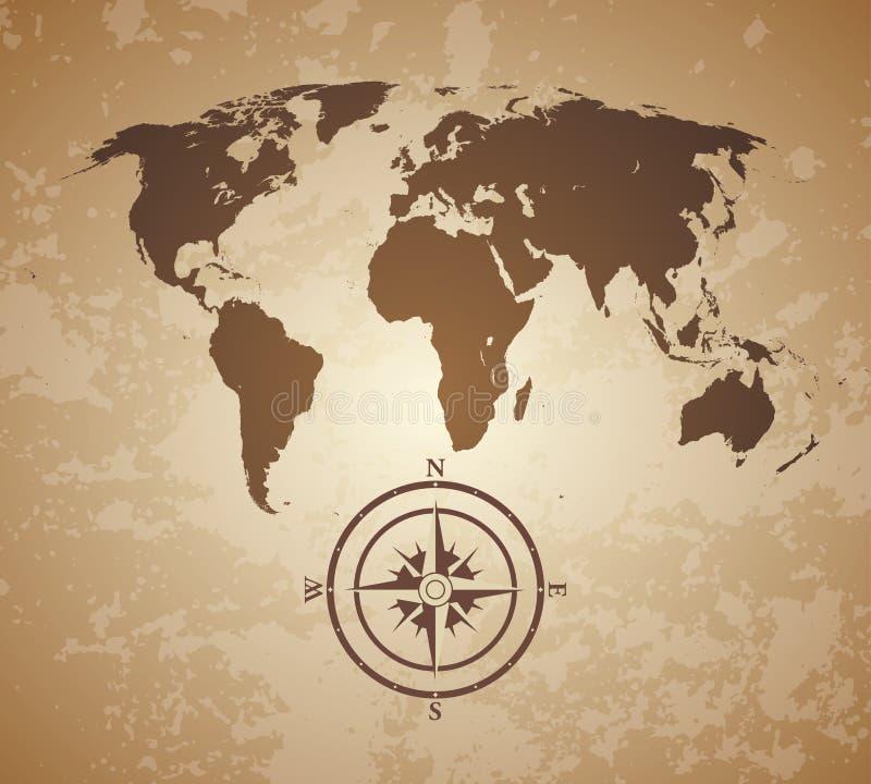 Stary świat mapa royalty ilustracja