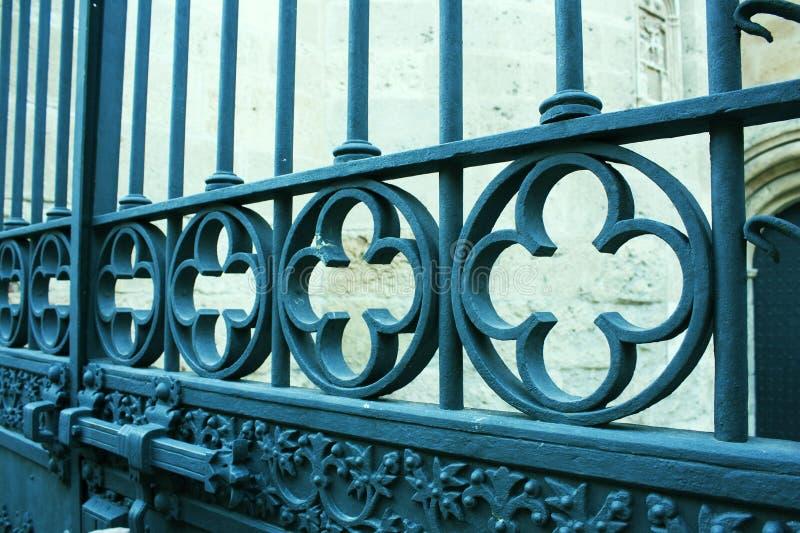 Stary żelaza ogrodzenie. obrazy royalty free