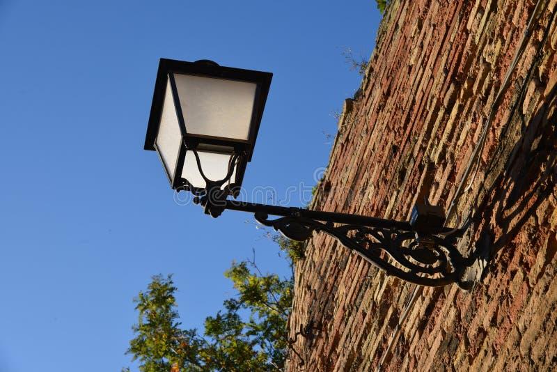 Stary żelazny lamppost obrazy stock