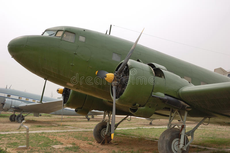 stary 47 samolot c zdjęcie stock