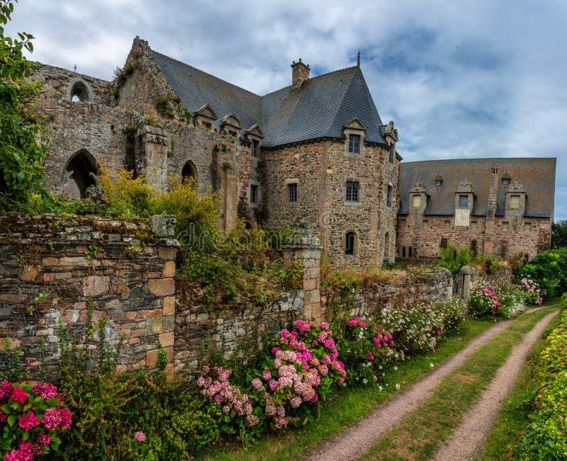Stary Abbaye Morski De Beauport zdjęcie royalty free