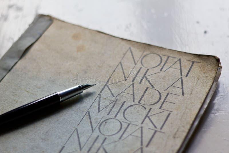 Stary akademicki notatnik obraz stock