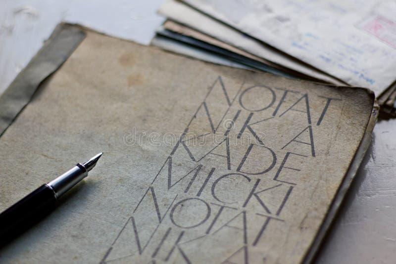 Stary akademicki notatnik obrazy royalty free