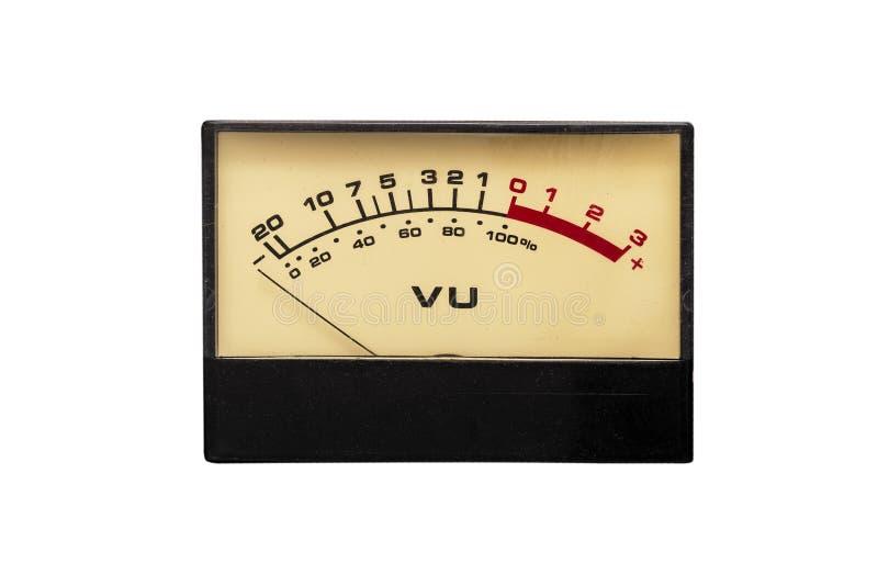 Stary analogowy tarczy vu wskaźnik zdjęcie royalty free