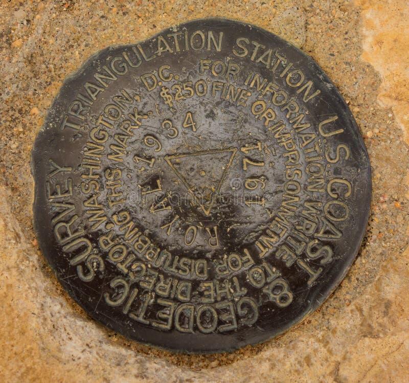 Stary ankieta markier przy szczytem w Arizona obrazy royalty free