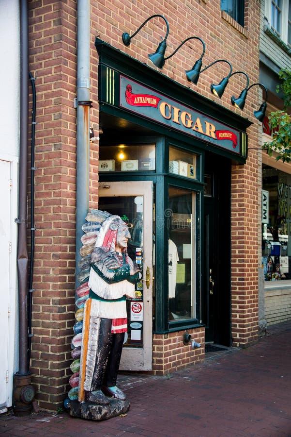 Stary Annapolis Cygarowy sklep zdjęcie royalty free