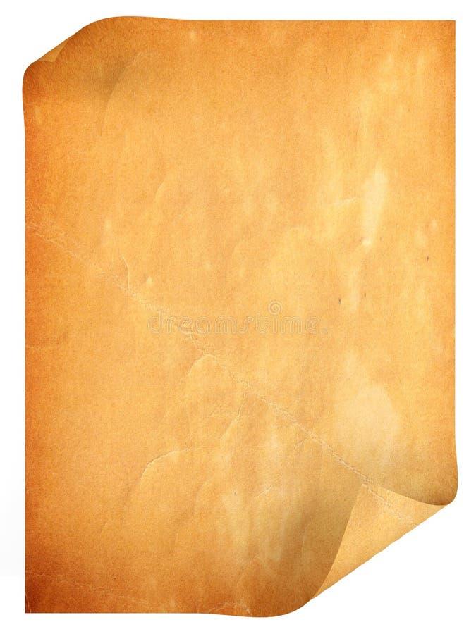 Stary antykwarski pusty papier fotografia stock