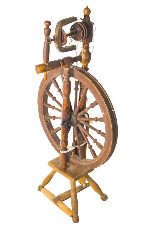 Stary antykwarski rocznik drewniany kądziel obrazy stock