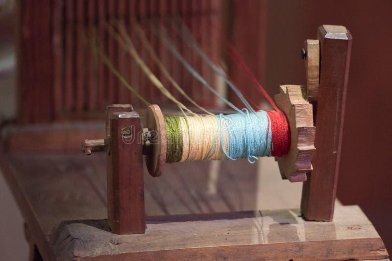 Stary antykwarski tkactwo maszyny szczegół zdjęcie royalty free