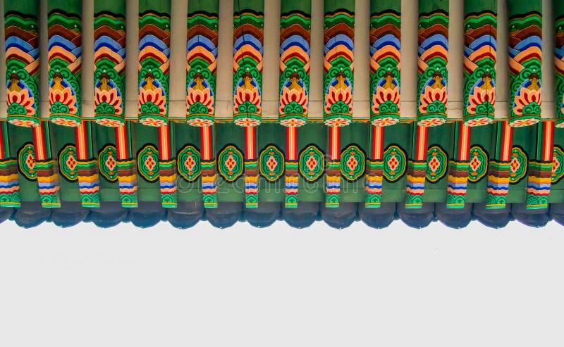 Stary architektury dekoraci wzór Korea zdjęcia royalty free
