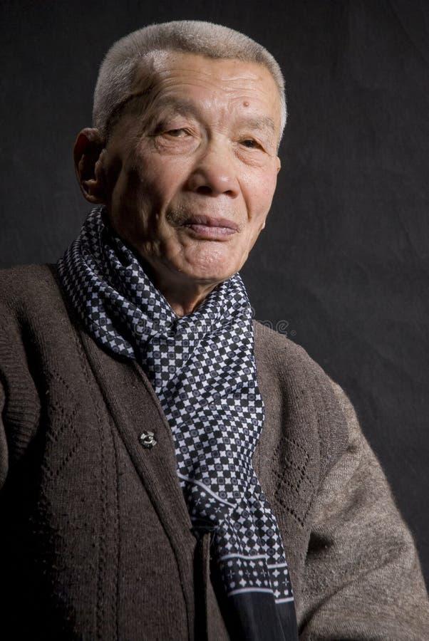 Stary Asia Mężczyzna Obraz Royalty Free