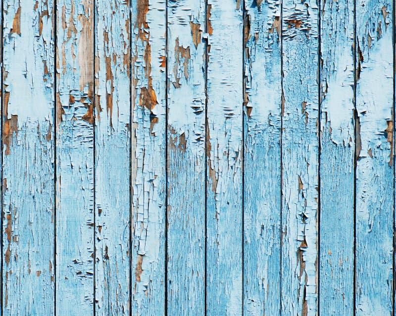 Stary błękitny drewniany deski tło. fotografia stock