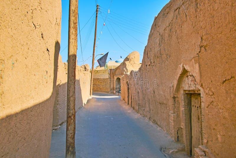 Stary backstreet, Kashan, Iran zdjęcie stock