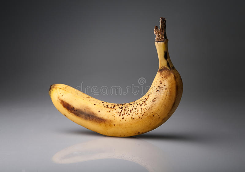 Stary banan obrazy royalty free