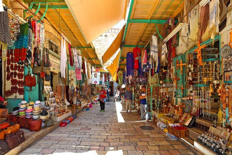 Stary bazar w Jerozolima, Izrael. fotografia royalty free