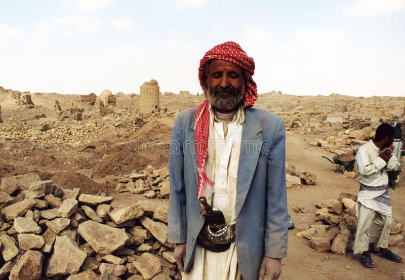 Stary beduin obrazy stock